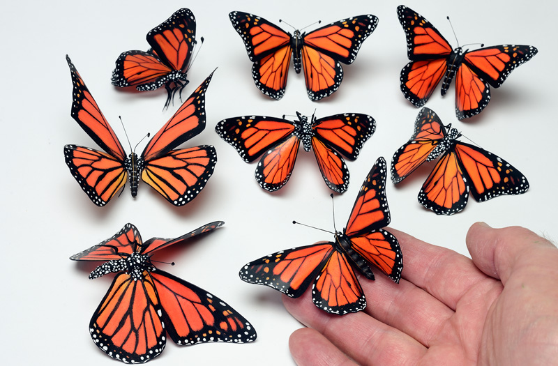 Monarch butterfly props