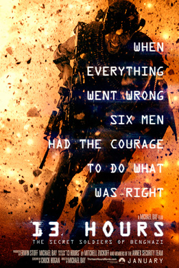 13 Hours Benghazi movie poster