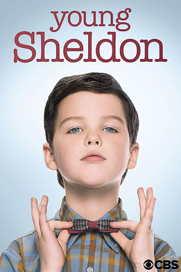 Young Sheldon bees on face and shoulder